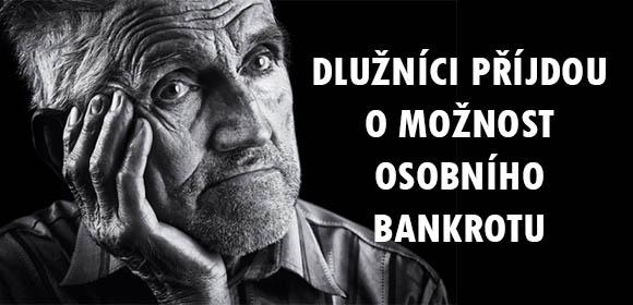 Dlužníci přijdou o možnost osobního bankrotu-image